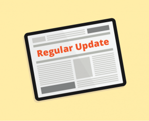 regular updates for donors image