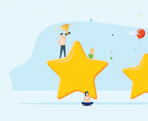 Top charities in Australia image - four gold stars